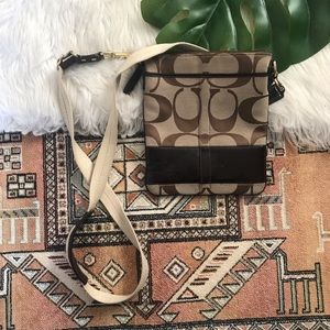 Authentic Coach Canvas & Leather Crossbody